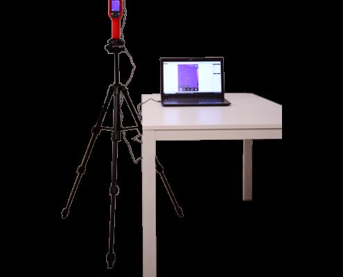 sistema termografia portatil para accesos de mano con tripode